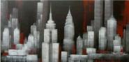 New York blanco-negro-rojo