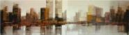 Skyline Manhattan tonos grises - beige - ocre