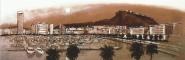 Alicante puerto B/N rojos