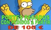 PORTES PAGADOS A PARTIR DE 100 €