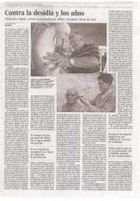 Entrevista diario El País al escultor Alejandro Inglés Llorens