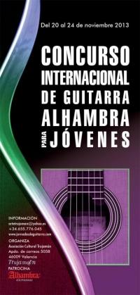 Concurso Internacional de Guitarras Alhambra para Jóvenes