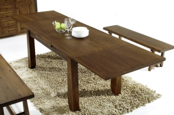 Mesa rustica de comedor extensible - El mueble artesano rural ...