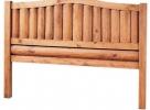 Cabecero mexicano rustico troncos