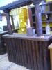 Barra de bar de troncos única