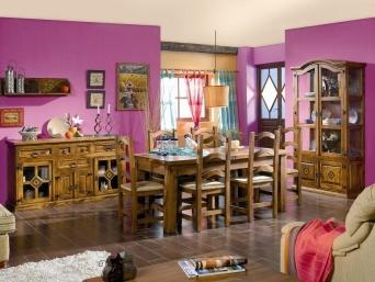 Comedor mexicano girasol r stico el mueble artesano for Muebles estilo mexicano moderno