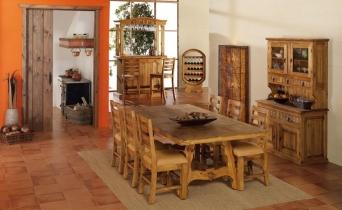Comedor mexicano r stico el mueble artesano rural for Comedor americano