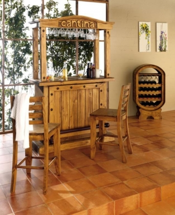 Bar cantina mexicana el mueble artesano rural for Mueble bar rustico