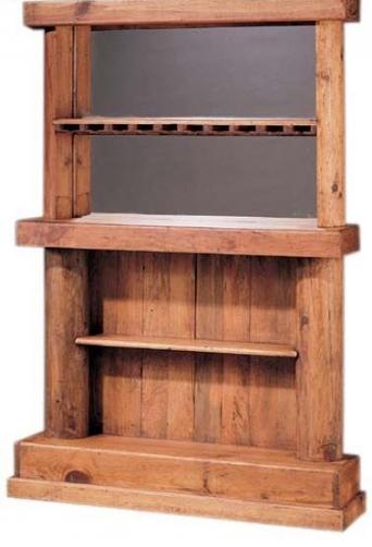 Mueble bar estrecho for Mueble bar rustico