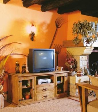 Mueble tv r stico mexicano - Muebles el artesano ...