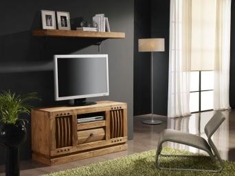 Mueble de tv r stico mexicano el mueble artesano rural - Muebles rustico mexicano ...