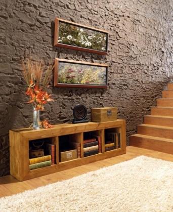 Modular 4 cubos r stico mexicano el mueble artesano - Muebles el artesano ...