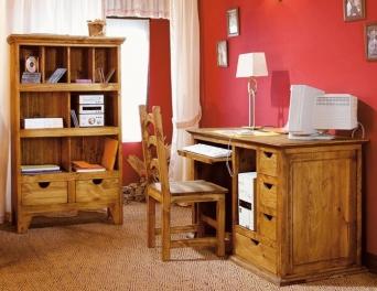 Dormitorio juvenil rustico el mueble artesano rural for Dormitorio rustico