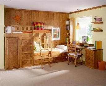 Dormitorio juvenil rustico el mueble artesano rural for Zapatero para habitacion