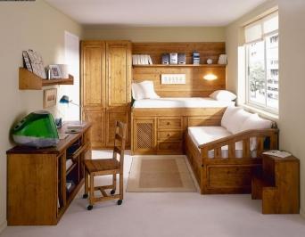 Dormitorio juvenil rustico el mueble artesano rural for Decoracion sala de estar juvenil
