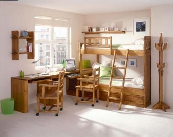 Dormitorio juvenil rustico el mueble artesano rural for Literas originales para un cuarto juvenil