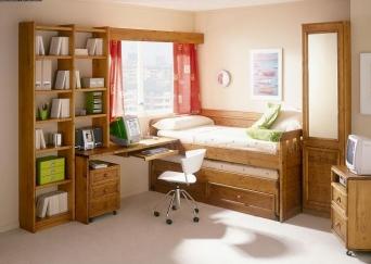 Dormitorio juvenil rustico el mueble artesano rural - El mueble dormitorio juvenil ...