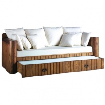 Sof cama con arrastre el mueble artesano rural - Sofas de mimbre ...