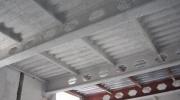 Estructura metálica y chapa colaborante con mortero IGNIPLASTER