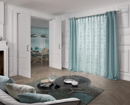 Curtain.- Ref. Organza 4111 c/39  Sides.-   Ref. Orgnanza 4183 c/ 39