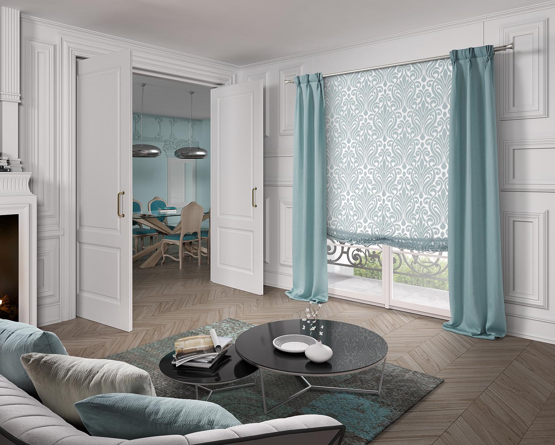 Galer a rosatex exclusive for Combinar cortinas y estores