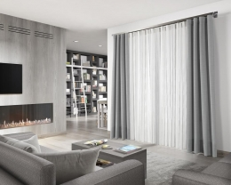 Curtain.- Ref. Jacquard 6415 c/ 06  Sides.-   Ref. Lino Scala c/ 22