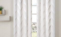 cortinas confeccionas estándar con ollados y diseños actuales listas para colgar en barra para decorar las ventanas de habitaciones, salón y comedor