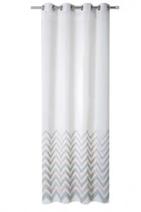 Cortina confeccionada estándar terminada con ollados en medida de 140 cm x 260 cm y 200 cm x 260 cm