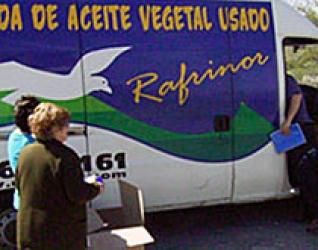 Se implanta un servicio de recogida de aceite vegetal usado con la empresa RAFRINOR