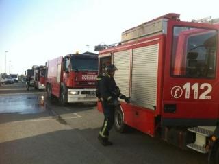 Incendio de una planta de reciclaje de aceite vegetal usado en Murcia