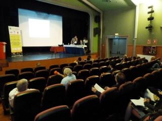 teatro villa de collado en presentacion de jornada de gestion de aceites vegetales usados