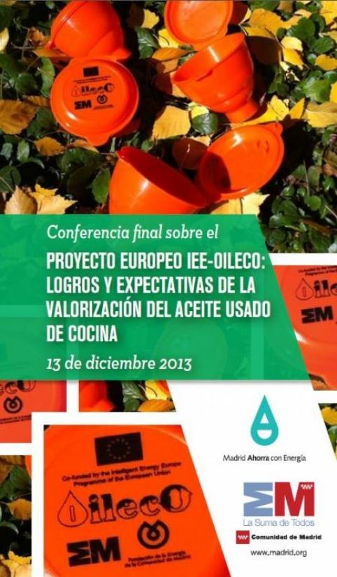 conferencia aceites usados de cocina en europa, logros y espectativas
