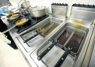 Freidoras en cocina