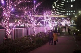 Alumbrado de Navidad en las calles de Tokio