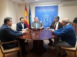 Geregras se reune con el Delegado del Gobierno de Murcia.