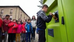 Mendigorría inaugura un sistema pionero de reciclaje de aceite usado de cocina.