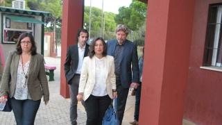 Maribel Peinado en los juzgados de Puerto Real, en 2014.