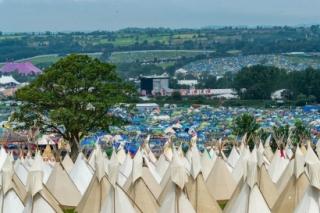 Impresionante imagen del recinto del festival de Glastonbury (Foto: Andrew Allcock/Glastonbury)