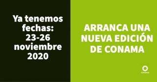 Ya tenemos fechas para Conama 2020: 23-26 de noviembre.