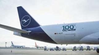 Boeing 777F que realizó el trayecto Frankfurt-Shanghái solo con biocarburante de aceites usados