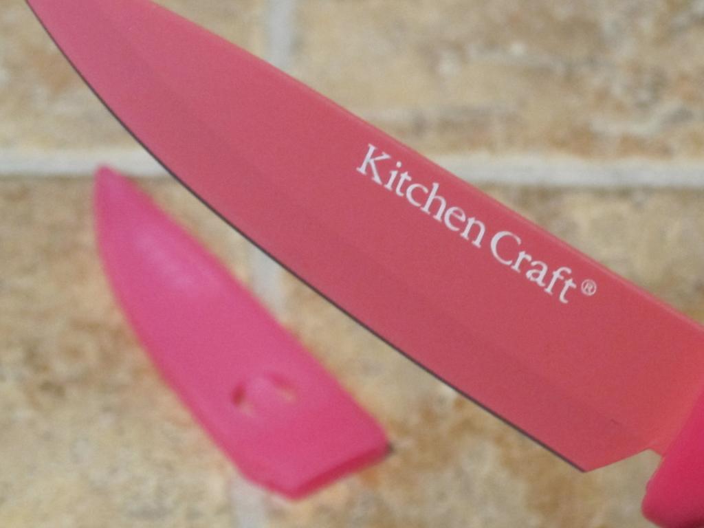 Cuchillo cocina ba o cer mico con funda rosa kitchen craft onlinemenaje tienda virtual - Fundas para cuchillos de cocina ...