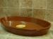 Cazuela fuente ovalada de barro 55 cms.