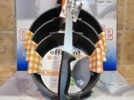 Sartenes Bra Orange lote 20-24-28 mas regalo de cuchillo de cocina