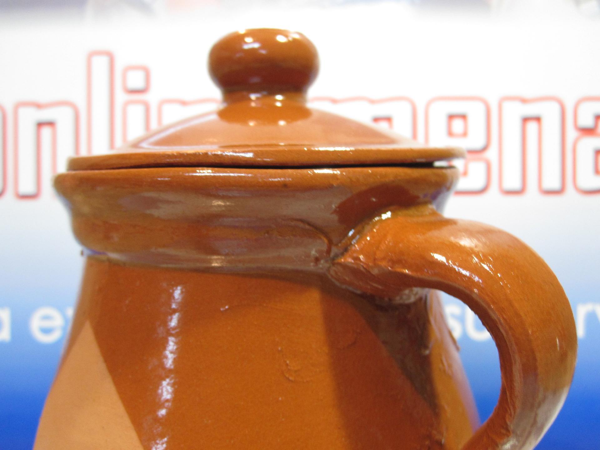 Puchero de barro con tapadera de 1 litro onlinemenaje - Pucheros de barro ...