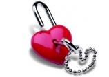 Candado en forma de corazon