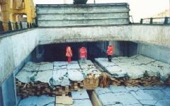 Transporte de madera en barco