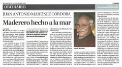 Obituario Juan Antonio Martínez Córdoba