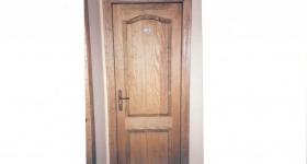 puertas de interior macizas de pino melis teñido