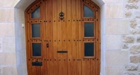 Puertas entabladas de tres hojas