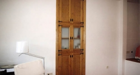 armario 2 hojas vidrieras mod. rustico cocina
